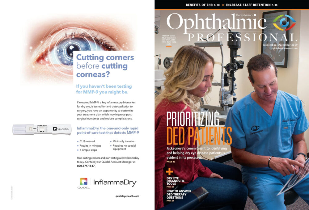Image of Cover of Ophthalmic Profssional Magazine